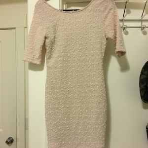 Cream forever 21 formal dress